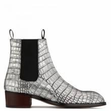 "Giuseppe Zanotti Men's Boots ""Silver Abbey"""