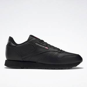 Reebok Men's Classic Leather Lifestyle Shoes in Black