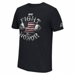 Reebok UFC Ultimate Fan Fight For Honor Tee Men's MMA T-Shirt in Black