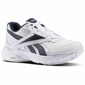 Reebok Walk Ultra V DMX Max Men's Walking Shoes in White / Collegiate Navy