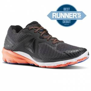 Reebok Harmony Road Men's Running Shoes in Coal / Black / Vitamin C / White / Awesome Blue
