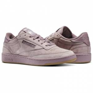 Reebok Club C 85 SG Men's Court Shoes in Smoky Orchid / White / Gum