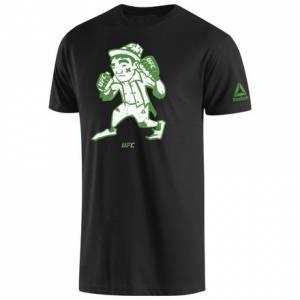 Reebok UFC McGregor Mix it Up Tee Men's Training T-Shirt in Black