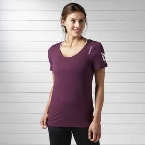 Reebok LES MILLS Tee Women's Studio, Fitness Top in Pacific Purple