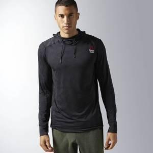 Reebok CrossFit Jacquard Hoodie Men's Training Apparel in Black