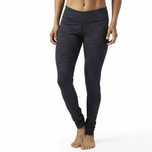 Reebok Elements Marble Legging Women's Fitness Training Tights in Black