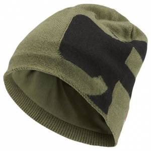 Reebok CrossFit Perforated Unisex Training Beanie in Hunger Green / Black