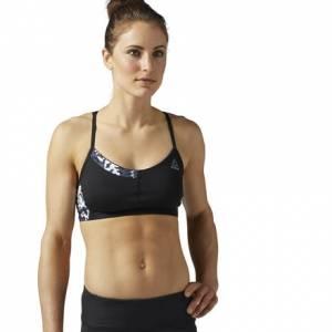 Reebok Running Essentials Padded Women's Sports Bra in Black