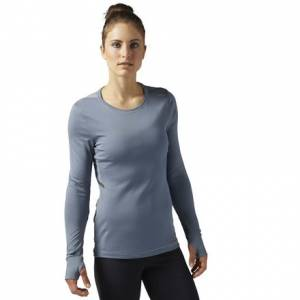 Reebok Wool Long Sleeve Women's Running Shirt in Asteroid Dust