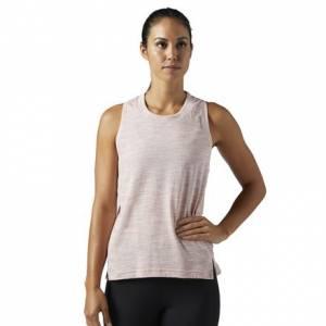 Reebok Elements Marble Women's Fitness Training Tank Top in Sandy Rose