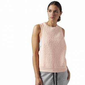 Reebok Yoga Pose Tank Women's Studio, Yoga Top in Peach Twist