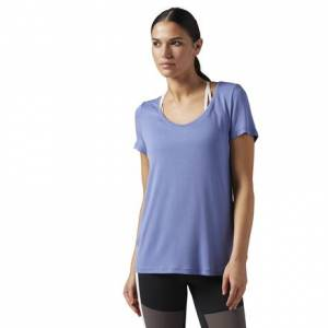Reebok Favorite Tee Women's Studio T-Shirt in Lilac Shadow