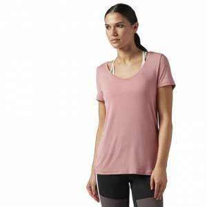 Reebok Favorite Tee Women's Studio T-Shirt in Sandy Rose