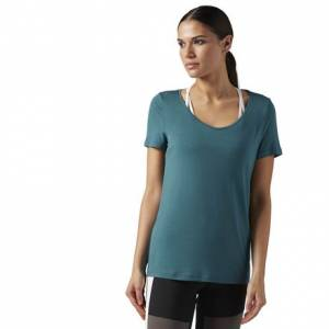 Reebok Favorite Tee Women's Studio T-Shirt in Washed Jade