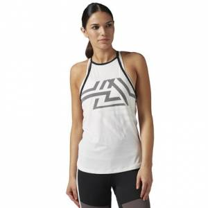 Reebok ACTIVCHILL Mesh Tank Women's Studio Top in Chalk