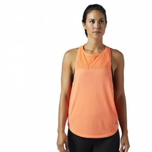 Reebok Cotton Muscle Tank Women's Fitness Training Top in Guava Punch