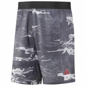 Reebok CrossFit Speed Board Men's Training Short - Camo Print in Black / Grey