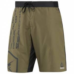 Reebok Epic Lightweight Short Men's Fitness Training Apparel in Army Green / Black