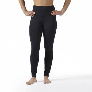 Reebok Lux High-Rise Legging Women's Fitness Training Tights in Black