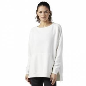 Reebok Studio Favorites Oversized Crew Neck Women's Sweatshirt in Chalk