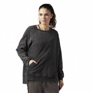 Reebok Studio Favorites Oversized Crew Neck Women's Sweatshirt in Black