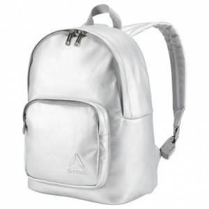 Reebok Premium Metallic Women's Studio Backpack in Silver Met