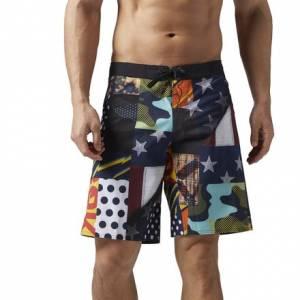 Reebok CrossFit Super Nasty Board Training Short Men's in Black / Multicolor