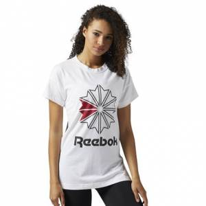 Reebok Classics Graphic Tee Women's Casual T-Shirt in White