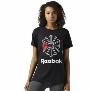 Reebok Classics Graphic Tee Women's Casual T-Shirt in Black