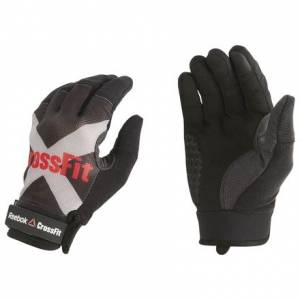 Reebok CrossFit Men's Training Gloves in Black / Ash Grey