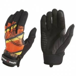 Reebok CrossFit Women's Training Gloves in Black / Orange