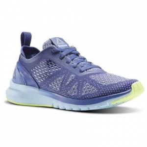 Reebok Print Smooth Clip Ultraknit Women's Running Shoes in Lilac Shadow / Fresh Blue / Electric Flash / White / Smoky Indigo