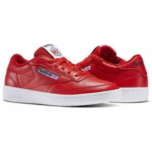 Reebok Club C 85 SO Men's Court Shoes in Primal Red / White / Black / Vital Blue / Triathlon Red