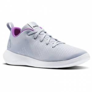 Reebok Esoterra DMX Lite Women's Walking Shoes in Cloud Grey / White / Vicious Violet