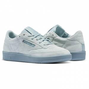 Reebok Club C 85 Lace Women's Court Shoes in Seaside Grey / White