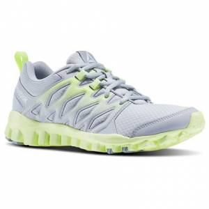 Reebok RealFlex Train 4.0 Women's Training Shoes in Cloud Grey / Meteor Grey / Electric Flash / White