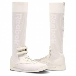 Reebok Freestyle Hi Ultraknit Women's Fitness Shoes in Chalk / Skull Grey / Stucco