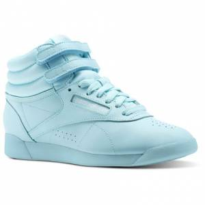 Reebok Freestyle Hi Colors Women's Fitness Shoes in Blue Lagoon / White