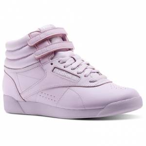 Reebok Freestyle Hi Colors Women's Fitness Shoes in Moonglow Violet / White