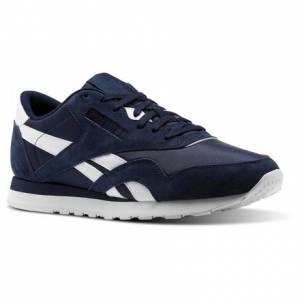 Reebok Classic Nylon PN Unisex Retro Running Shoes in Collegiate Navy