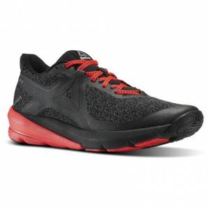 Reebok OSR Grasse Road Men's Running Shoes in Black / Coal / Glow Red