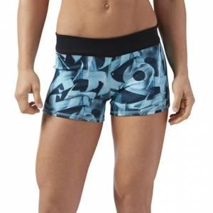 Reebok CrossFit Women's Training Bootie Shorts in Turquoise