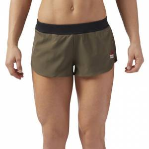 Reebok CrossFit Women's Training 2in Water Repellant Shorts in Army Green
