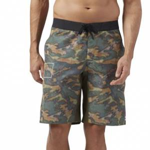 Reebok CrossFit Men's Training Super Nasty Tactical Board Shorts in Army Green