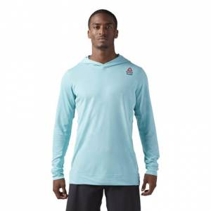 Reebok CrossFit Men's Training Jacquard Hoodie in Turquoise