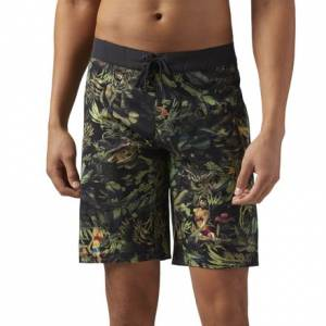 Reebok CrossFit Tropical Tease Men's Training Shorts in Army Green