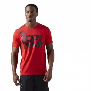 Reebok LES MILLS BODYPUMP™ ACTIVCHILL Men's Studio T-Shirt in Primal Red