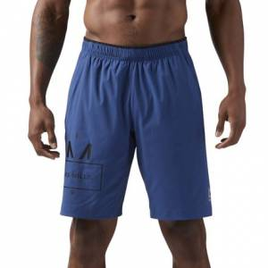 Reebok LES MILLS Men's Studio 10in Shorts in Washed Blue