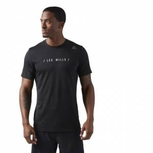 Reebok LES MILLS Dual Blend Men's T-Shirt Studio in Black