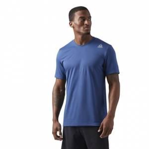 Reebok LES MILLS Dual Blend Men's Studio T-Shirt in Washed Blue